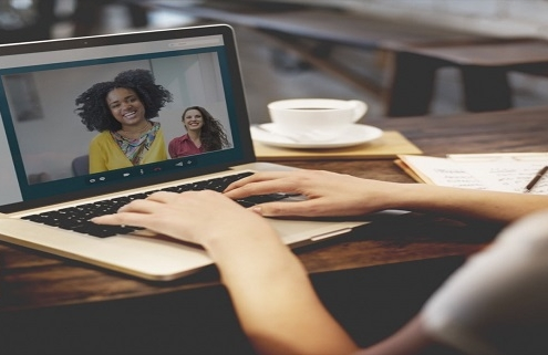 virtual remote learning video chat webinar